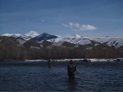 Steelhead on a fly rod near Salmon Idaho 8 March 2013