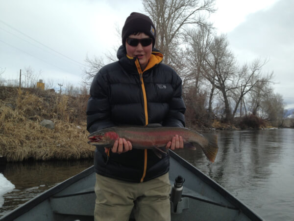A nice spring steelhead on the Salmon River.