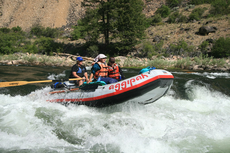 Riding the Rapids of the Salmon River and catching some air