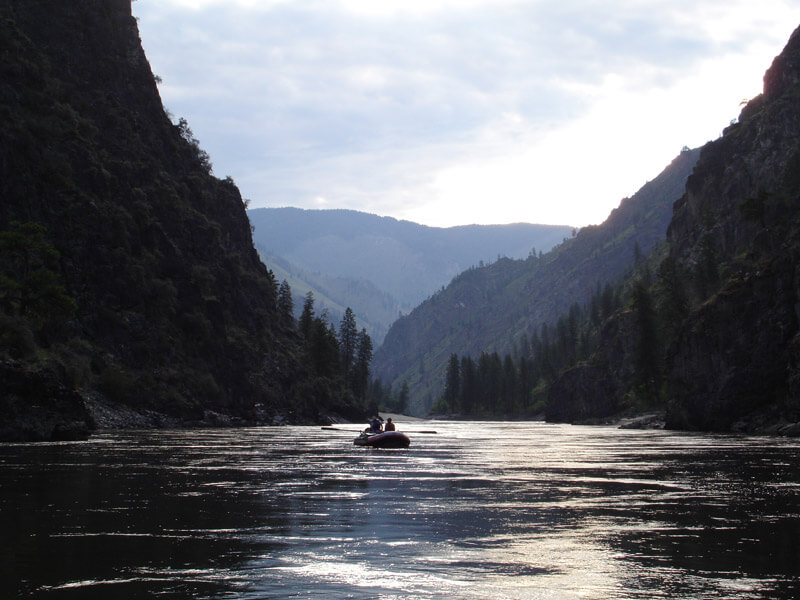 image: salmon river and canyn wide view