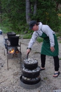 The possibilities are endless when cooking with Dutch Ovens on the Salmon River