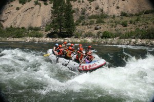 Ride exciting white water rapids on the Salmon River