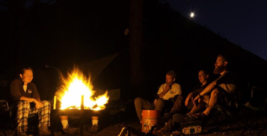 Salmon river campfire